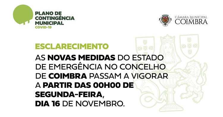 Jornal Campeão: Coimbra tem novas medidas de Estado de Emergência na segunda-feira
