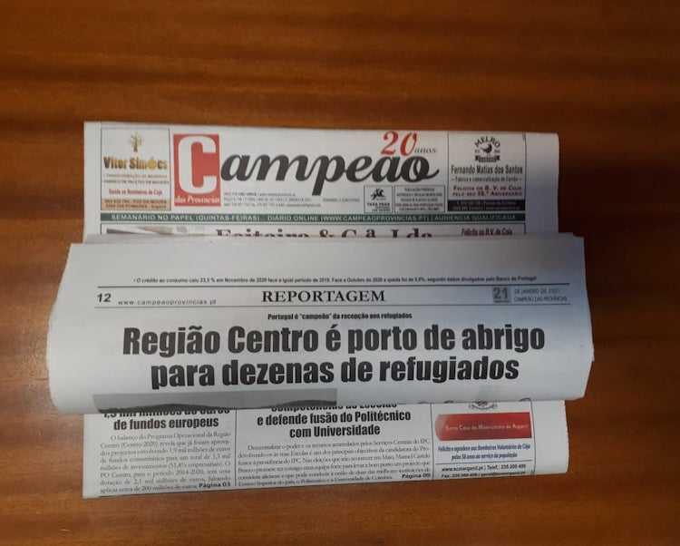 Jornal Campeão: Região Centro é porto de abrigo para dezenas de refugiados
