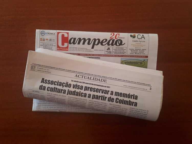 Jornal Campeão: Associação nasce para preservar memória da cultura judaica a partir de Coimbra