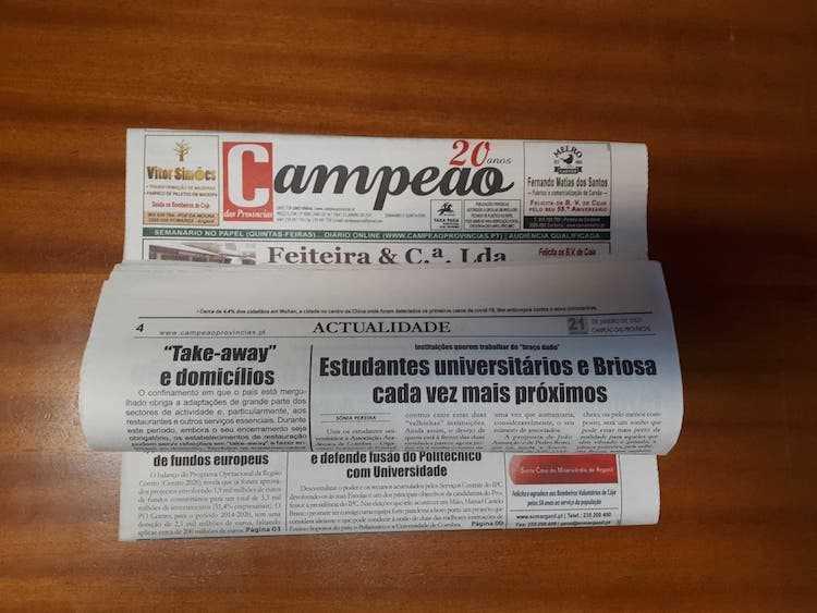 Jornal Campeão: Estudantes universitários e Briosa cada vez mais próximos