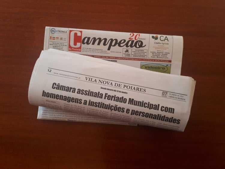Jornal Campeão: Vila Nova de Poiares assinala Feriado Municipal com homenagens