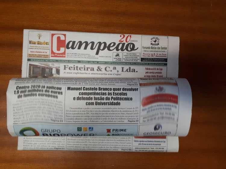 Jornal Campeão: Manuel Castelo Branco defende fusão de Politécnico com Universidade