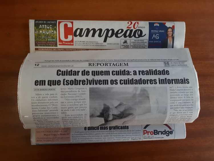 Jornal Campeão: Reportagem: A realidade em que (sobre)vivem os cuidadores informais