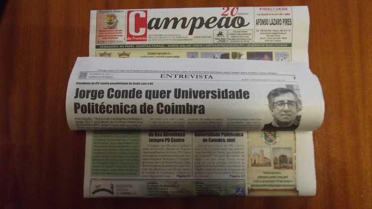 Jornal Campeão: Entrevista a Jorge Conde