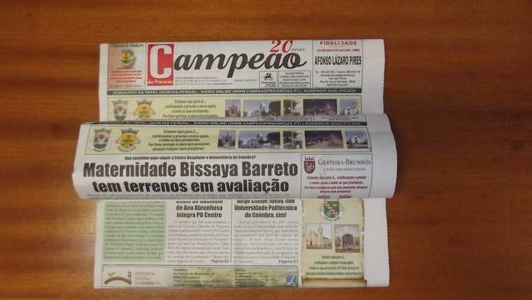 Jornal Campeão: Maternidade Bissaya Barreto tem terrenos em avaliação