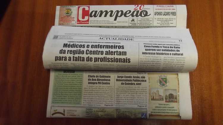 Jornal Campeão: Médicos e enfermeiros da Região Centro alertam para falta de profissionais