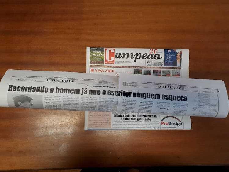 Jornal Campeão: Miguel Torga morreu há 26 anos