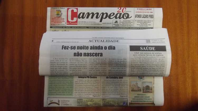 Jornal Campeão: A morte de Rosa Calisto: Fez-me noite ainda o dia não nascera