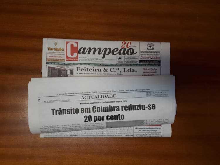Jornal Campeão: Trânsito em Coimbra reduziu 20 por cento