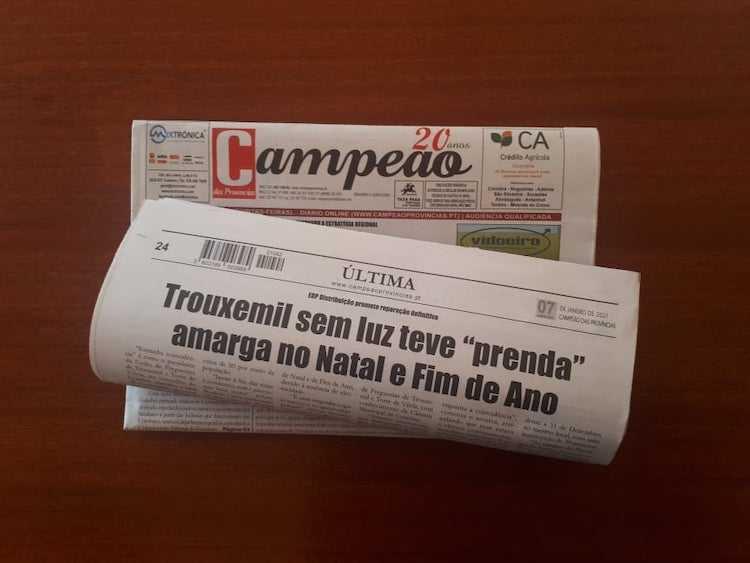 Jornal Campeão: Trouxemil ficou às escuras no Natal e Fim de Ano