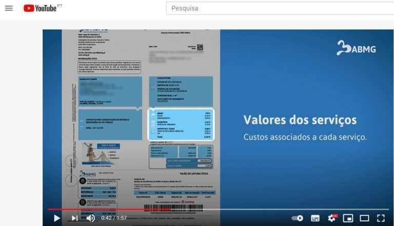 Jornal Campeão: ABMG lança vídeo promocional para que clientes saibam interpretar as facturas