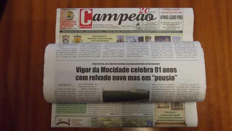 Jornal Campeão: Vigor da Mocidade está a fazer 91 anos
