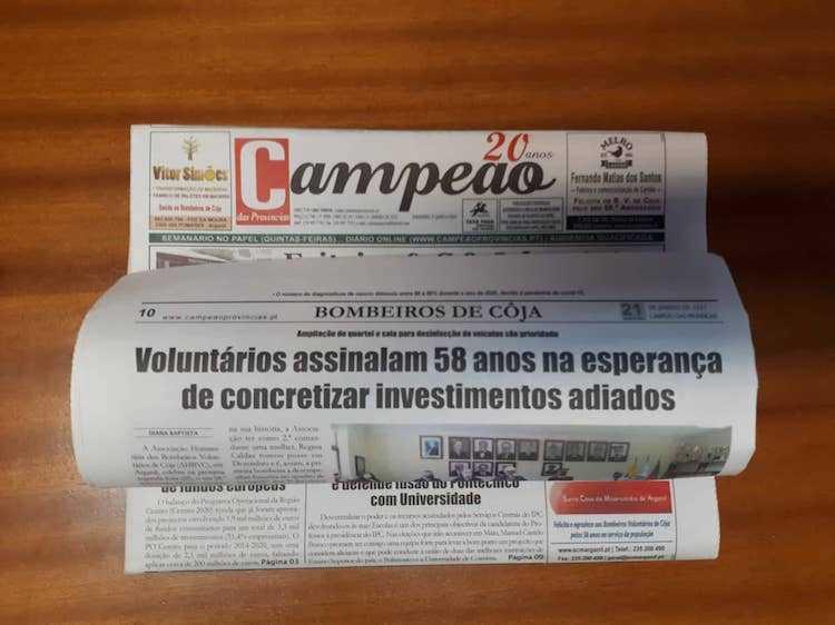 Jornal Campeão: Voluntários de Côja assinalam 58 anos