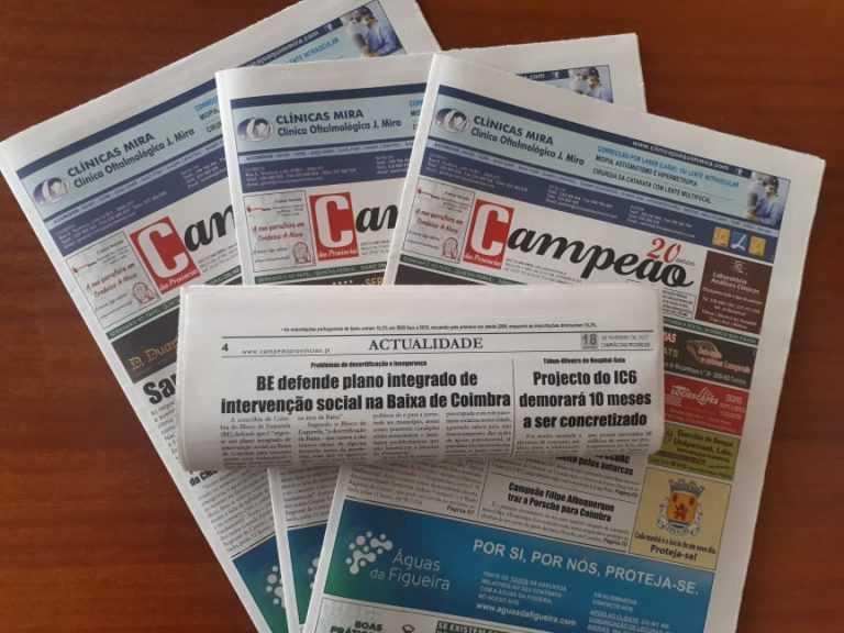 Jornal Campeão: BE defende plano integrado de intervenção social na Baixa de Coimbra