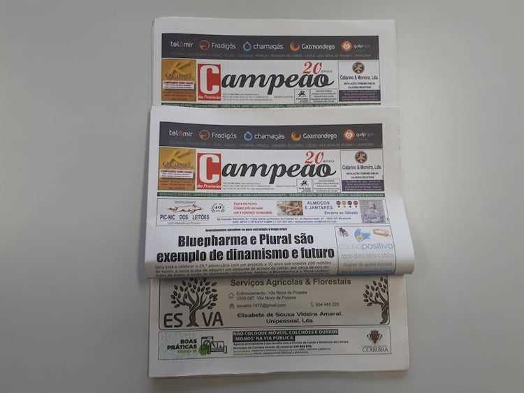 Jornal Campeão: Bluepharma e Plural são exemplo de dinamismo e futuro