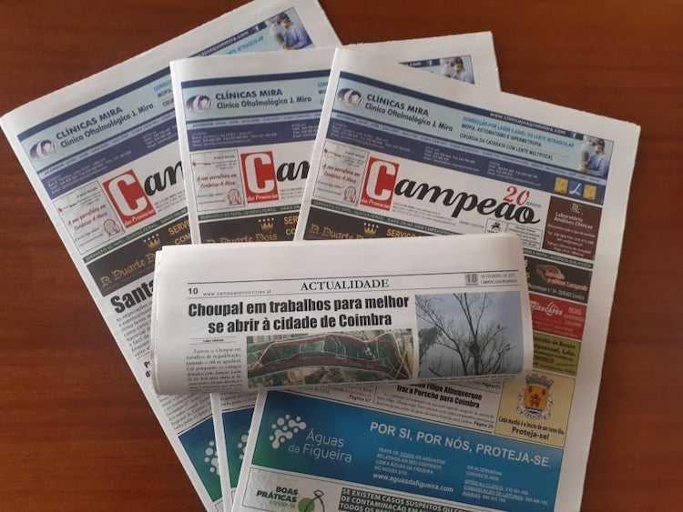 Jornal Campeão: Choupal em trabalhos para melhor se abrir à cidade de Coimbra