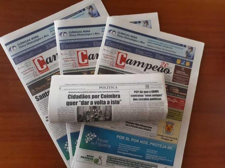 """Jornal Campeão: Cidadãos por Coimbra quer """"dar a volta a isto"""""""