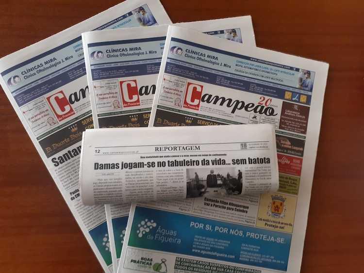 Jornal Campeão: Reportagem: Damas jogam-se no tabuleiro da vida… sem batota