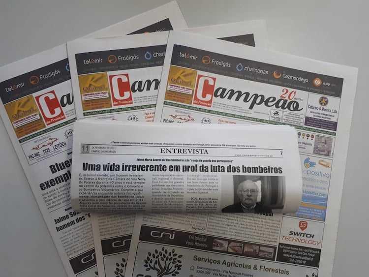 Jornal Campeão: Entrevista a Jaime Marta Soares: Uma vida irreverente em prol da luta dos bombeiros