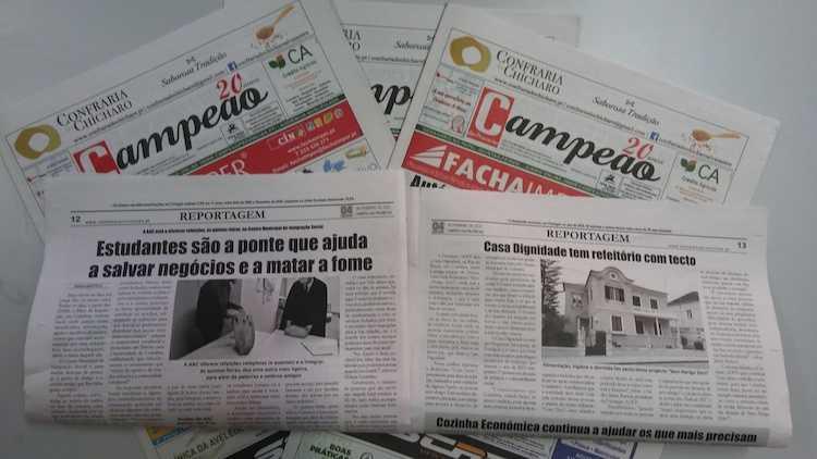 Jornal Campeão: Estudantes são a ponte que ajuda a salvar negócios e a matar a fome