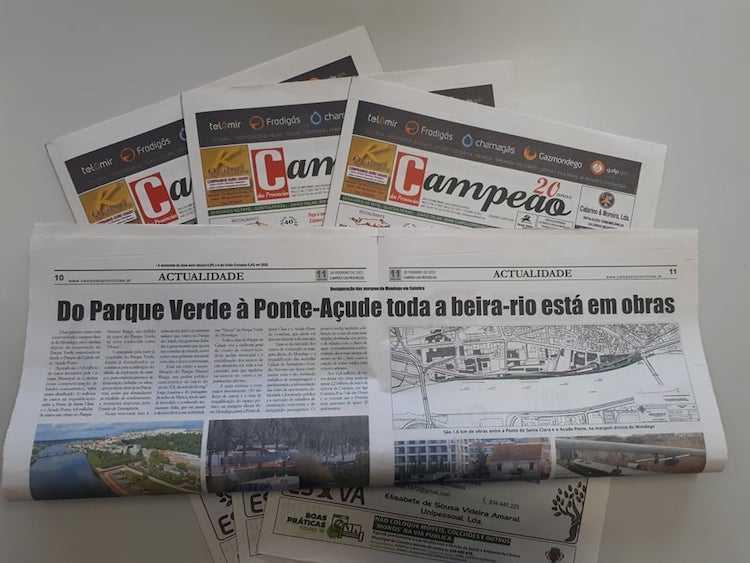 Jornal Campeão: Do Parque Verde à Ponte-Açude toda a beira-rio está em obras
