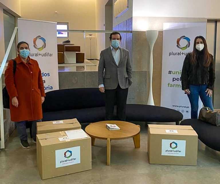 """Jornal Campeão: Plural+Udifar apoia o """"Movimento Coimbra Cuida"""" e doa bens ao Hospital dos Covões"""