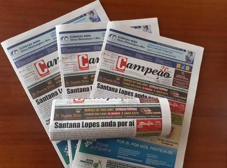 Jornal Campeão: Santana Lopes baloiça entre Coimbra e Sintra mas sair de Lisboa não lhe agrada