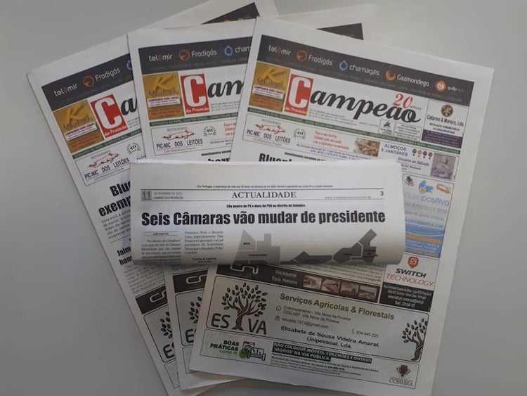 Jornal Campeão: Seis Câmaras do distrito de Coimbra vão mudar de presidente