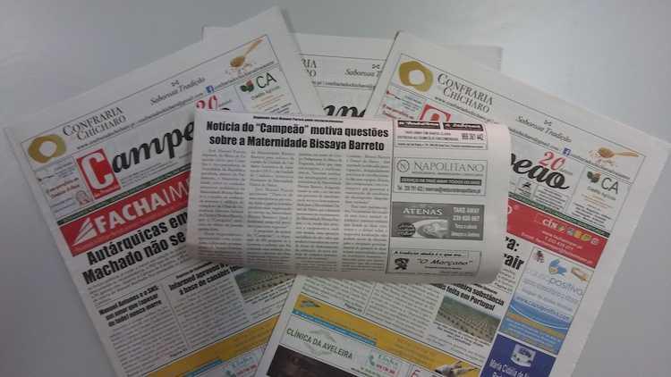 """Jornal Campeão: Notícia do """"Campeão"""" motiva questões sobre a Maternidade Bissaya Barreto"""