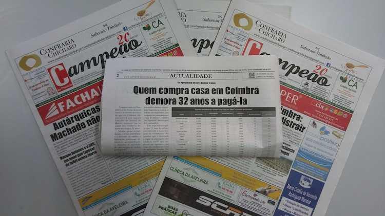 Jornal Campeão: Quem compra casa em Coimbra demora 32 anos a pagá-la