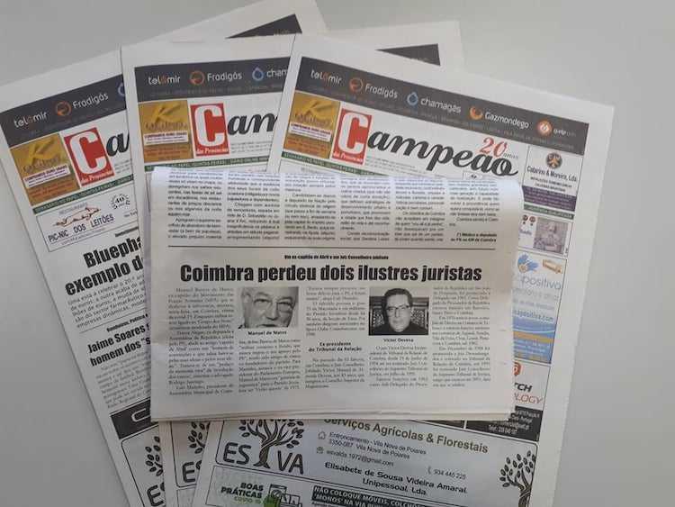 Jornal Campeão: Coimbra perdeu dois ilustres juristas