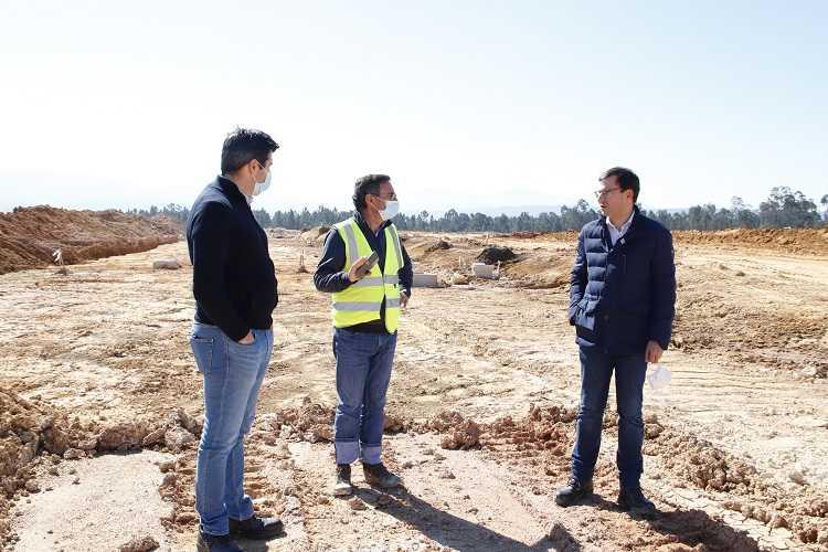 Jornal Campeão: Arganil: Luís Paulo Costa visitou obra de ampliação da Zona Industrial da Relvinha