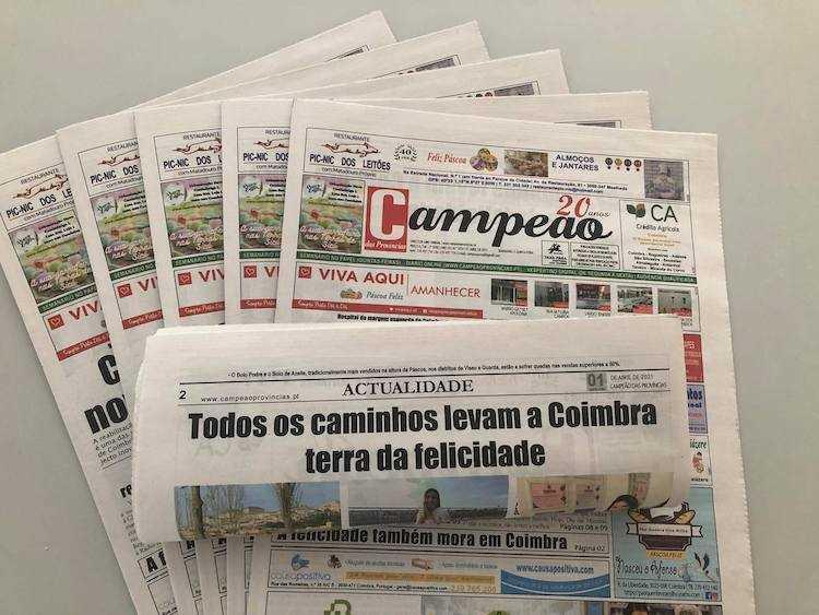 Jornal Campeão: Reportagem: A felicidade também mora em Coimbra