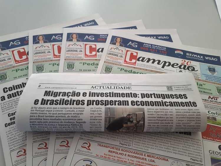Jornal Campeão: Migração e investimento: portugueses e brasileiros prosperam economicamente
