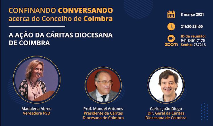 """Jornal Campeão: """"Confinando Conversando"""" debate acção da Cáritas Diocesana de Coimbra"""