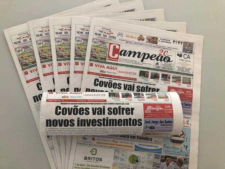 Jornal Campeão: Hospital dos Covões vai sofrer novos investimentos