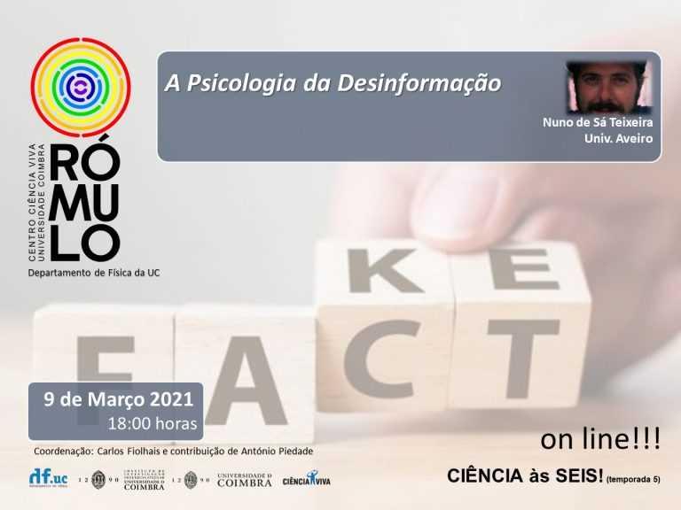Jornal Campeão: Centro Ciência Viva da UC organiza palestra sobre a desinformação