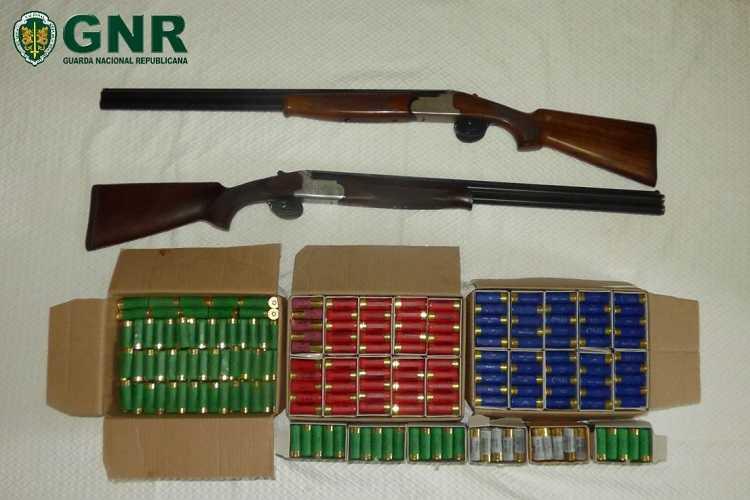 Jornal Campeão: Apreendidas armas de fogo e centenas de munições na Figueira da Foz