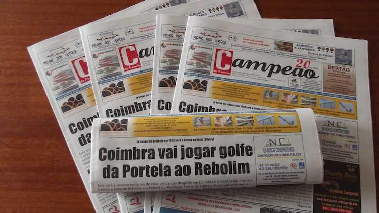 Jornal Campeão: Coimbra vai jogar golfe da Portela ao Rebolim