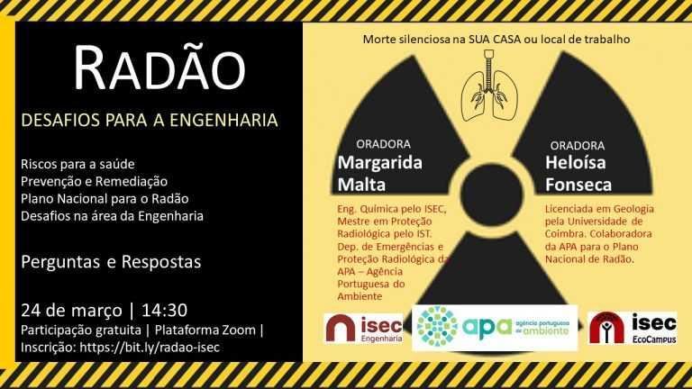 """Jornal Campeão: ISEC promove sessão online com o tema """"Radão e os Desafios na Área da Engenharia"""""""