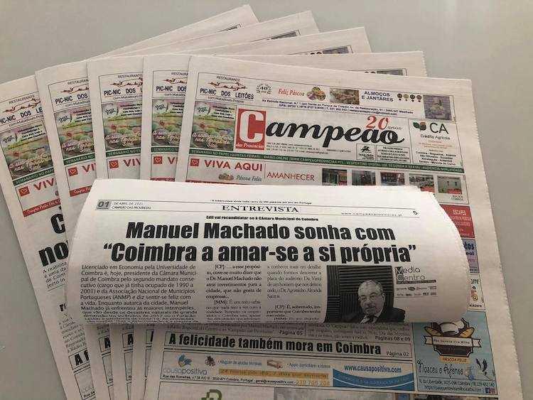 """Jornal Campeão: Entrevista a Manuel Machado: """"recandidato-me para ganhar"""""""