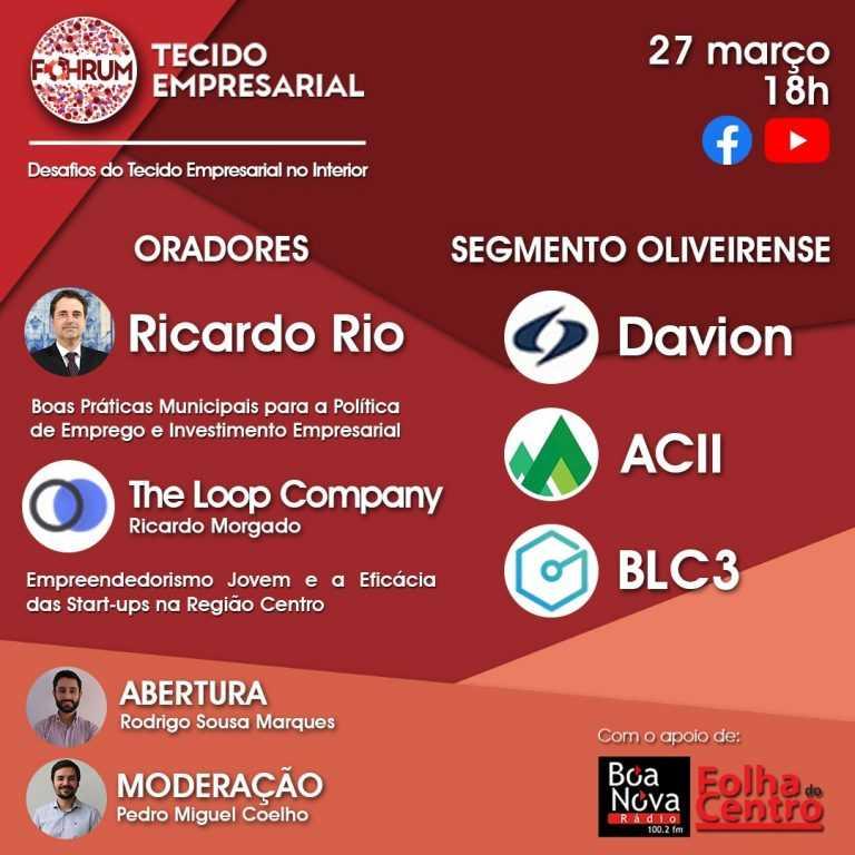 Jornal Campeão: Futuro do tecido empresarial em Oliveira do Hospital discutido em iniciativa online