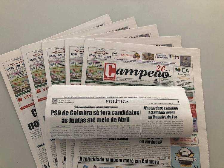 Jornal Campeão: PSD de Coimbra só terá candidatos às Juntas no meio de Abril