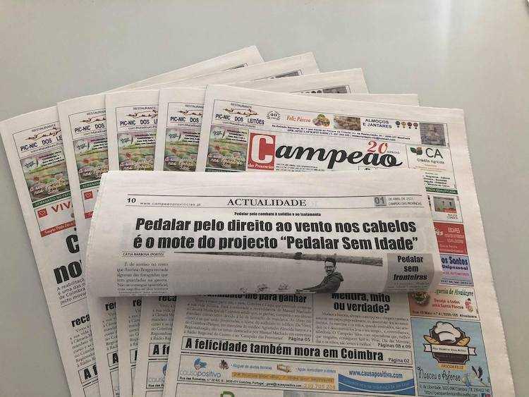 """Jornal Campeão: Pedalar pelo direito ao vento nos cabelos é o mote do projecto """"Pedalar Sem Idade"""""""