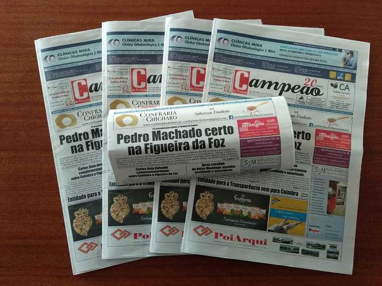 Jornal Campeão: Pedro Machado certo na Figueira da Foz