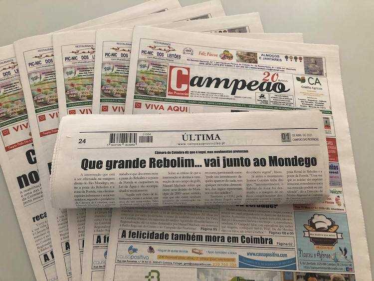 Jornal Campeão: Que grande Rebolim… vai junto ao Mondego