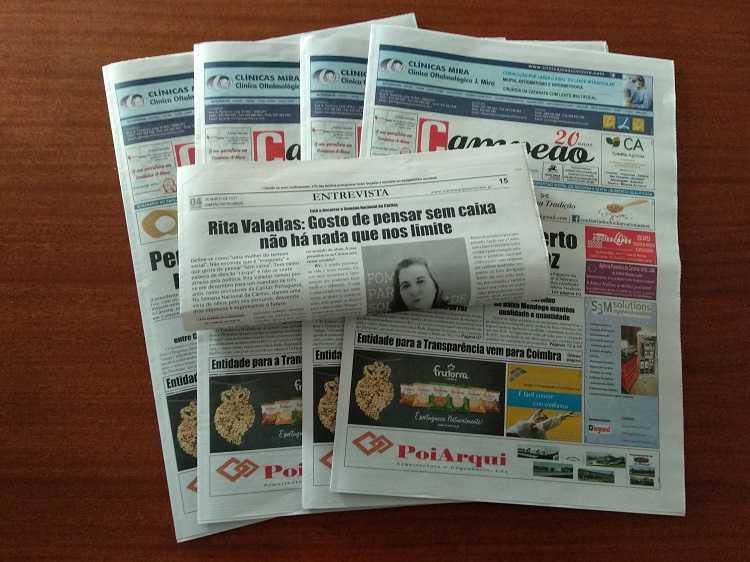 Jornal Campeão: Entrevista a Rita Valadas