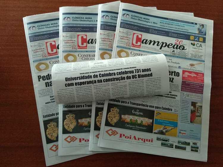 Jornal Campeão: Universidade de Coimbra celebrou 731 anos com esperança na construção do UC Biomed