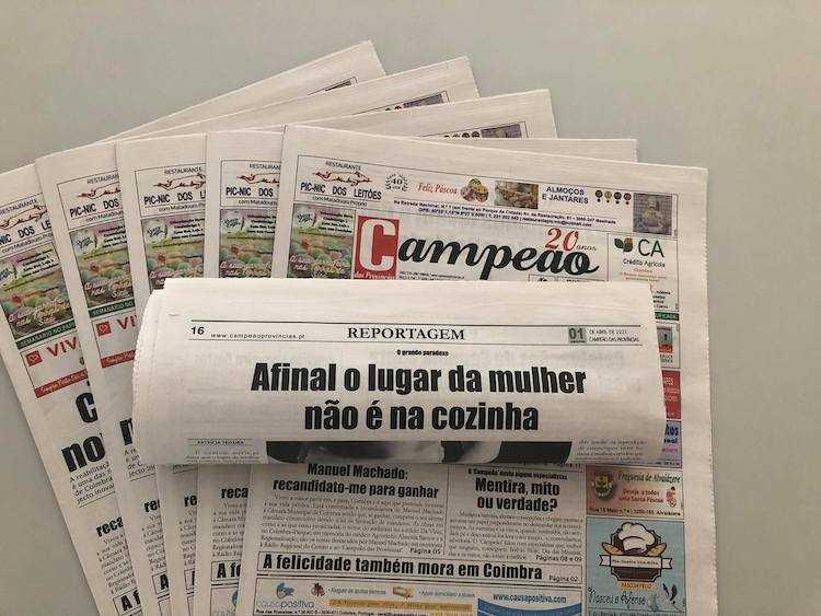Jornal Campeão: Reportagem: Afinal o lugar da mulher não é na cozinha