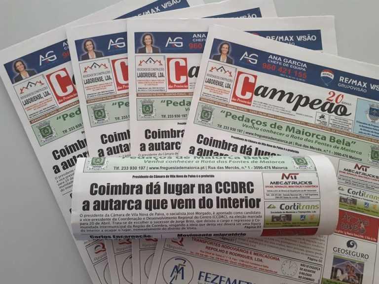 Jornal Campeão: Coimbra dá lugar na CCDRC a autarca que vem do Interior